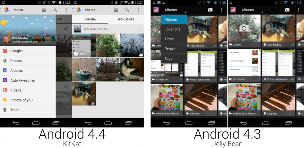 "The ""Photos"" section of the Google+ app, which replaced the Gallery."