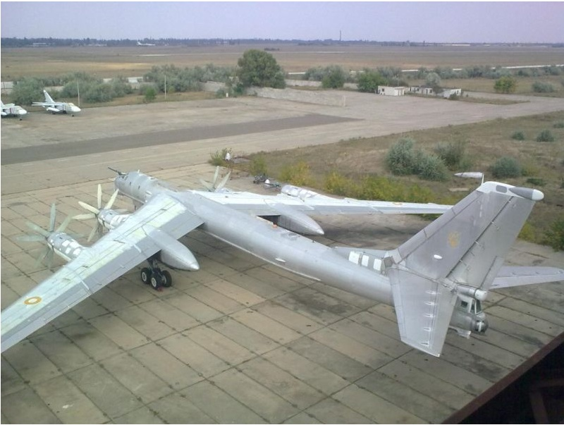 The seller's photo on eBay—note one missing set of propellers. The aircraft needs some loving care before becoming a supervillian's airborne lair.