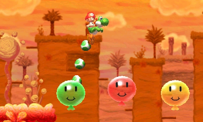 Oh look, here's the part where you jump on happy balloons, just like in <i>Yoshi's Island</i>.