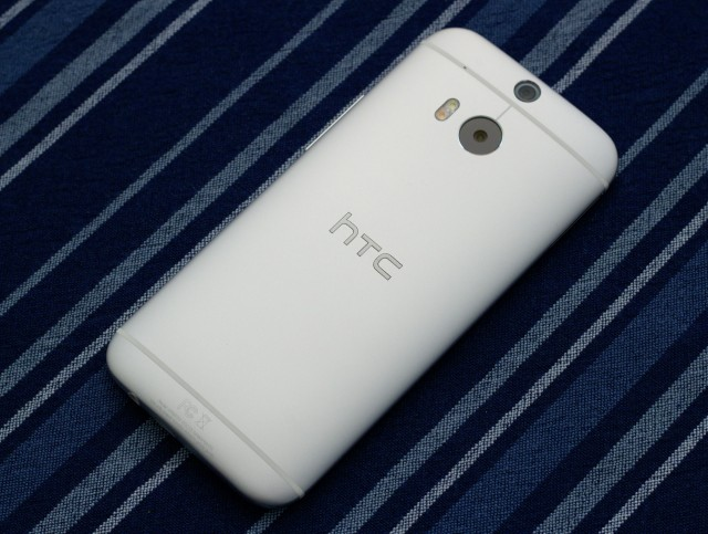 Our Google Play edition M8 has a smooth silvery finish more reminiscent of the original HTC One, rather than the darker brushed-metal texture in our standard M8 review unit.