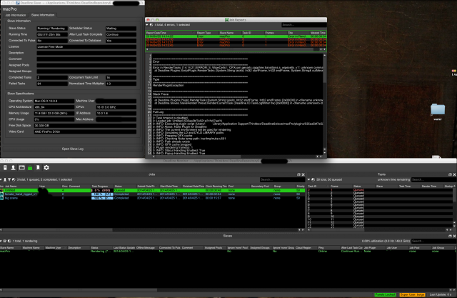 Because I was rendering an old file, it was missing a plug-in within Nuke, so the render was failing.