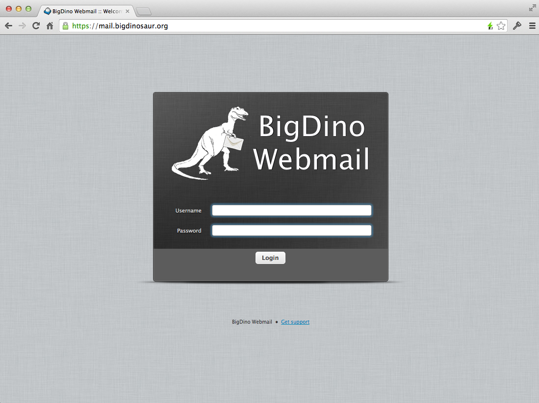 Why not add a snazzy custom logo to your Roundcube logon page?