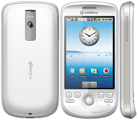 The HTC Magic, the second Android device, and the first without a hardware keyboard.