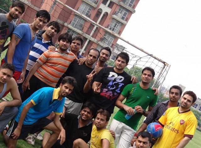 PCCare247 staffers after a football match.