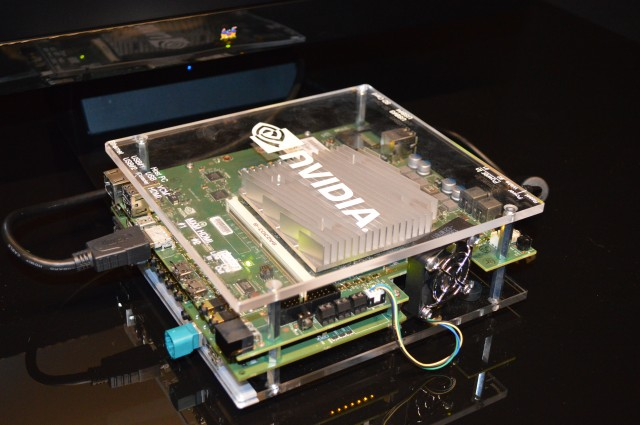 Developers will get to check their systems on something that looks like this Jetson Development Kit.