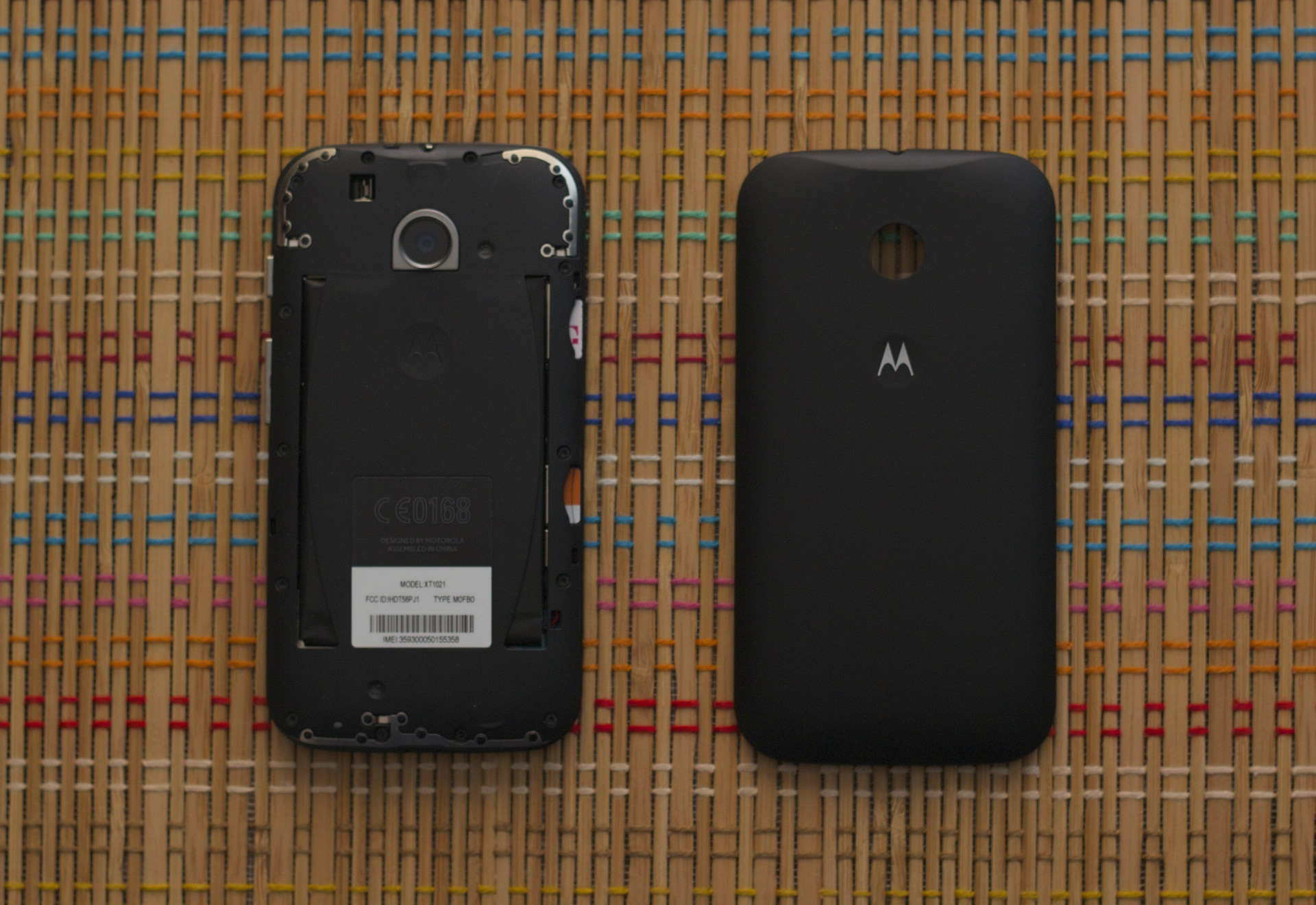 Like the Moto G, the Moto E has removable backs that are available in many colors.