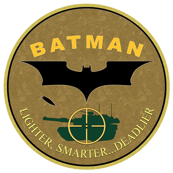 The logo of the Air Force's BATMAN program.