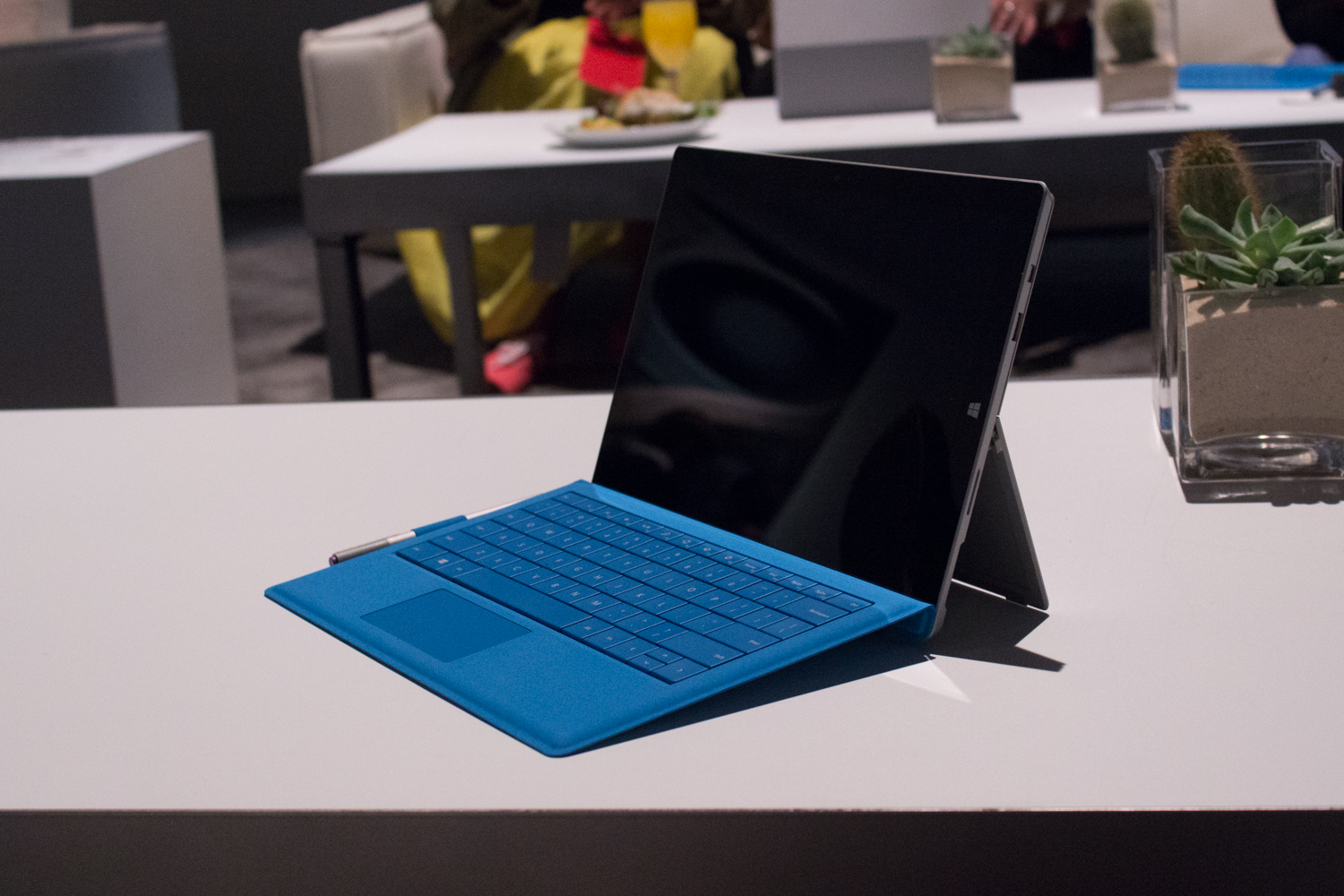 The Surface Pro 3 and its Type Cover.