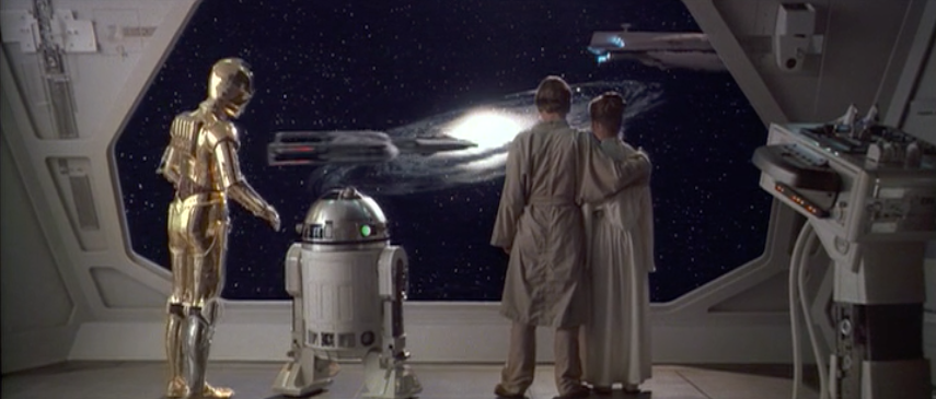 Another frame from the non-anamorphic DVD release of <em>The Empire Strikes Back</em>.