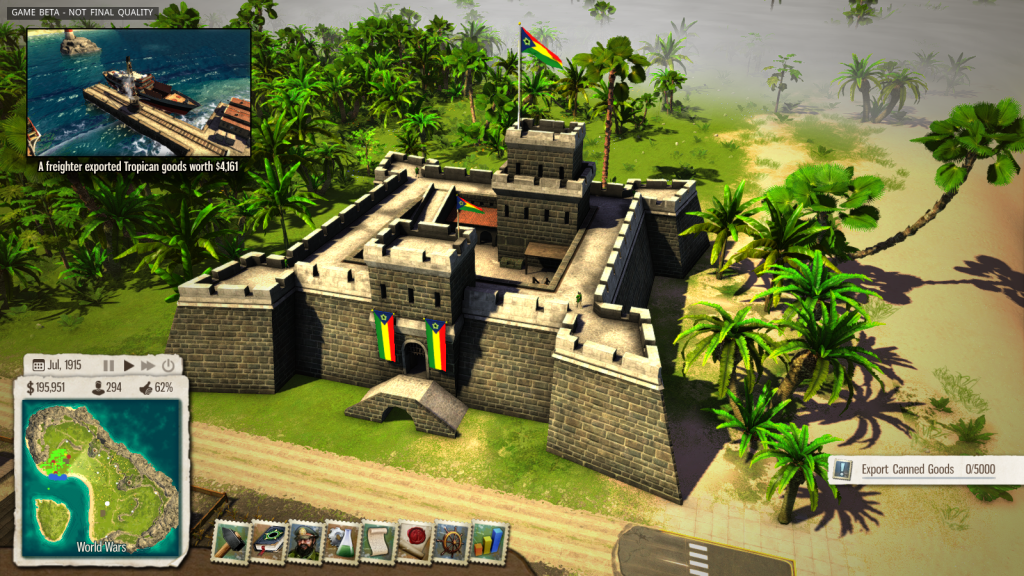 Maybe it's just me, but the palm trees make this fortress look a lot less imposing...