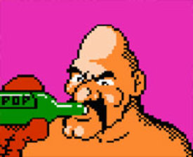 """The <em>Punch-Out!!</em> character known as Soda Popinski was originally named Vodka Drunkinski. To this day, we doubt that the bottle in his hand was actually """"pop."""""""