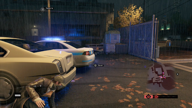 Yes, I am about to shoot this cop in the crotch. Don't worry, though... the game assures me it's for a justifiable reason.