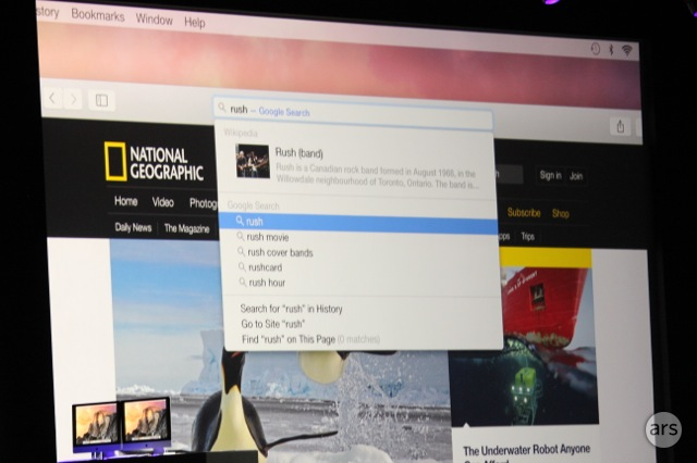 Safari's new everything-bar.