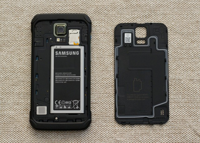 The S5 Active is waterproof and dust-proof... but so is the regular S5.