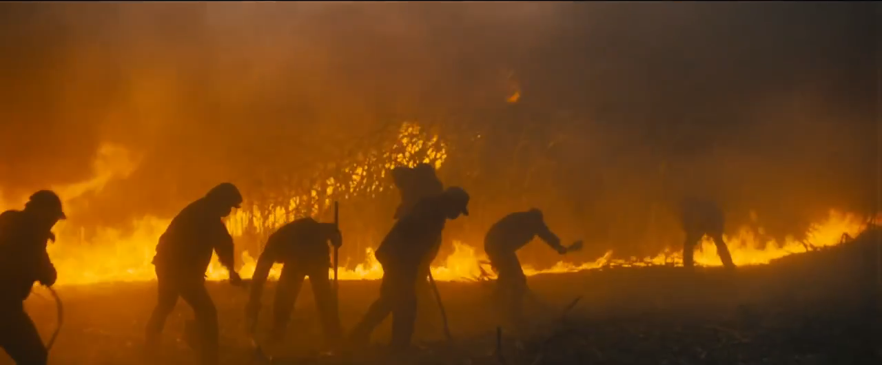 """""""We didn't run out of planes and television sets,"""" the trailer tells us over pictures of ash-shrouded landscapes and burning crops. """"We ran out of food."""""""