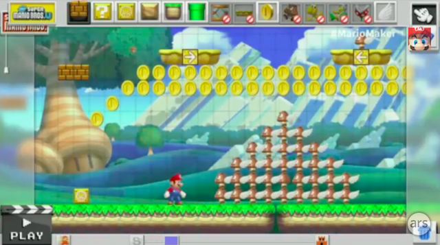 <i>Mario Maker</i> will let players create basic 2D Mario levels on the Wii U.