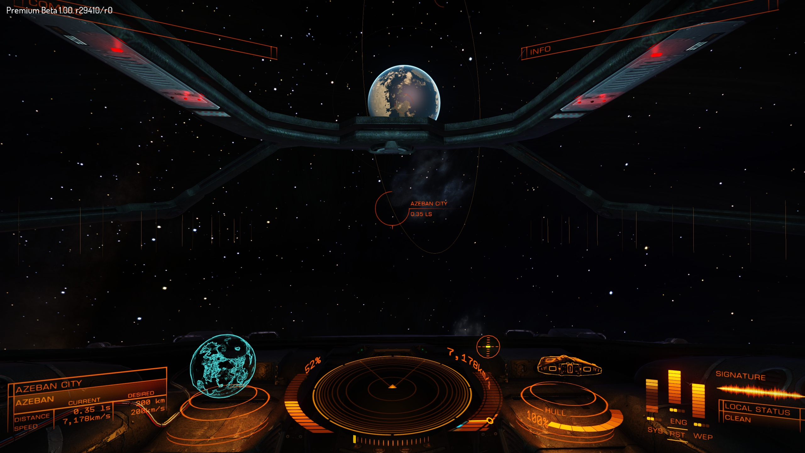 Zipping toward Azeban City in frameshift drive.