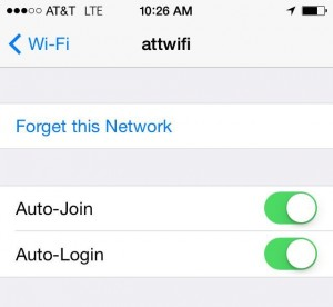 The default settings for the AT&T Wi-Fi network on my iPhone, before I got paranoid.