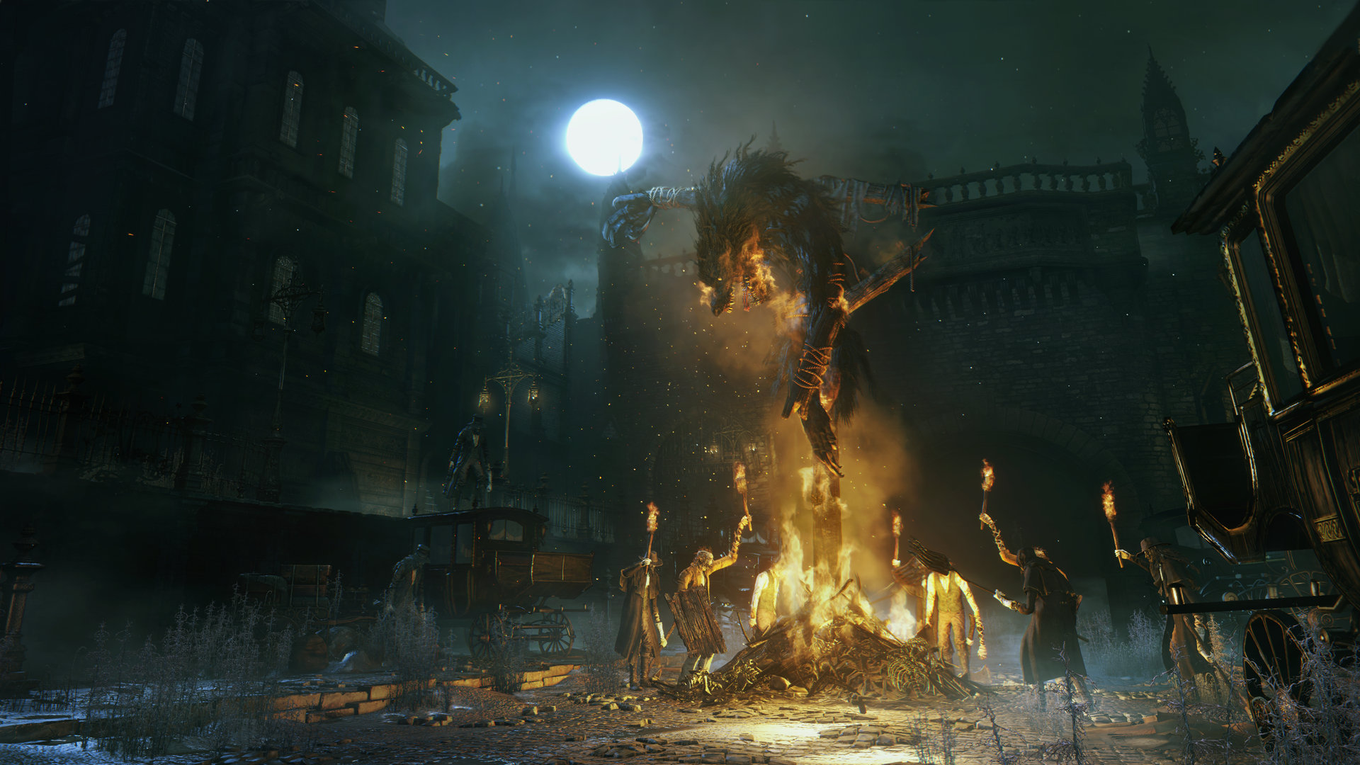 The large crowds of actual people are one of the least <i>Dark Souls</i>-like parts of <i>Bloodborne</i>.
