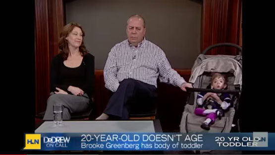 Brooke Greenberg and her parents on HLN.