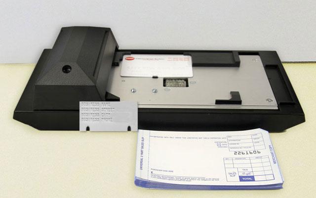 card imprinting machine