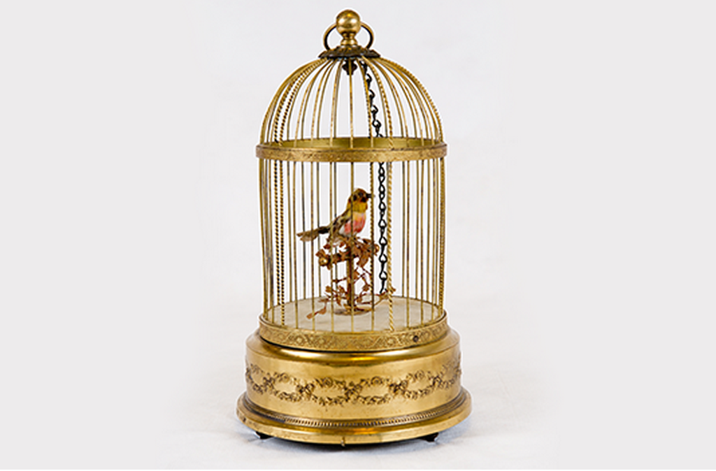 The bird that reportedly started it all, bought by Walt Disney in New Orleans in the 50s.