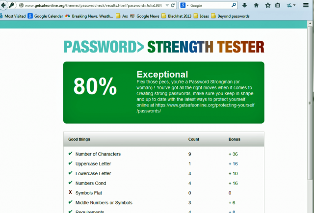 "Safe Site Checker >> How the ""Get Safe Online"" password checker fails users—badly 