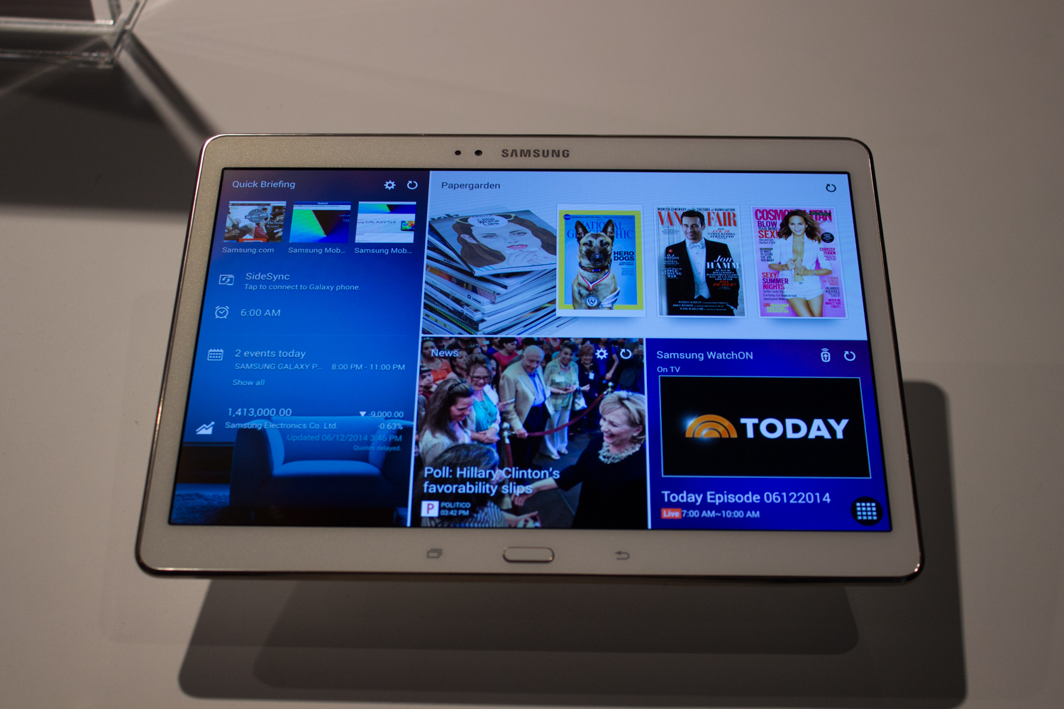 Hands on with samsung s two sharpest additions to the for Samsung galaxy s tablet