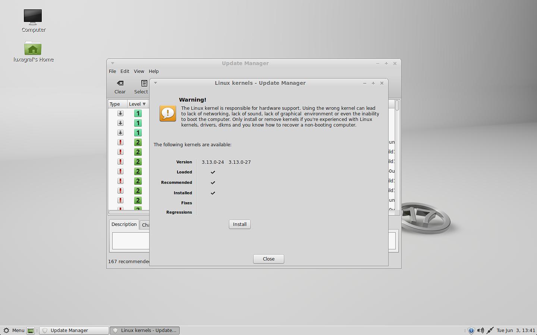Mint 17 using kernel 3.13.0-24.