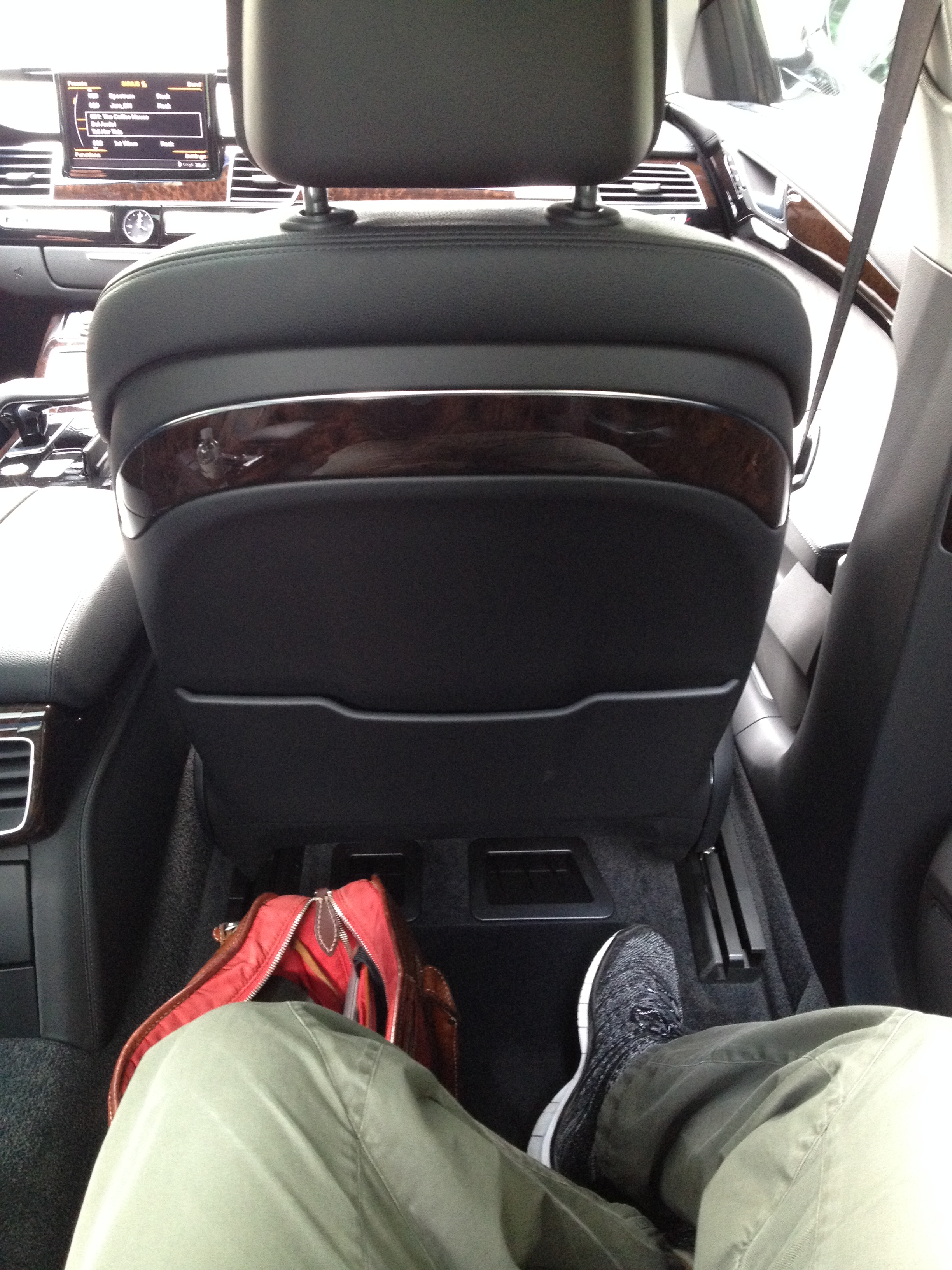 There really is an awful lot of legroom in the back of an A8L.