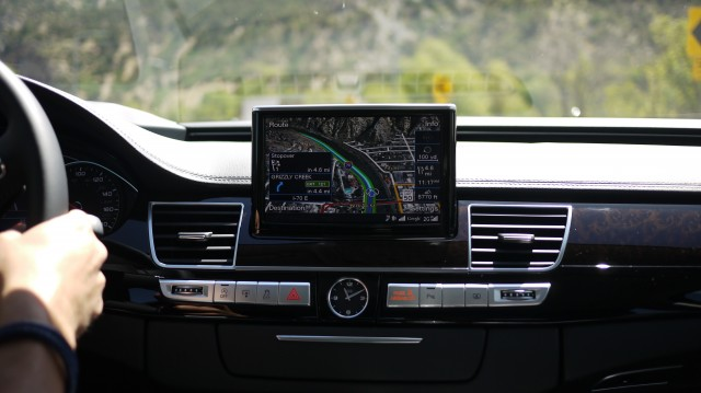 The Google Maps-enabled Audi Connect navigation.