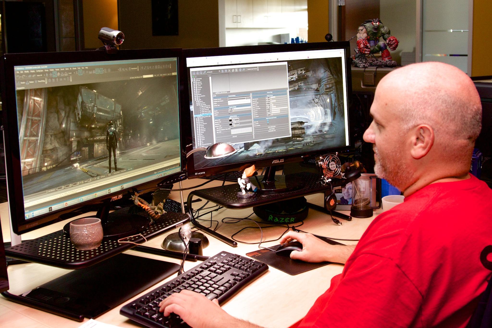 Senior VFX artist Lee Amarakoon.
