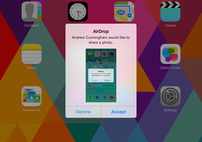 AirDrop in iOS 7 uses both Bluetooth 4.0 and Wi-Fi, and Yosemite will use the same version of the feature.