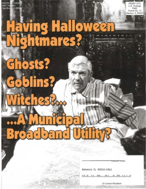 A Comcast-funded flyer against municipal broadband in Illinois.