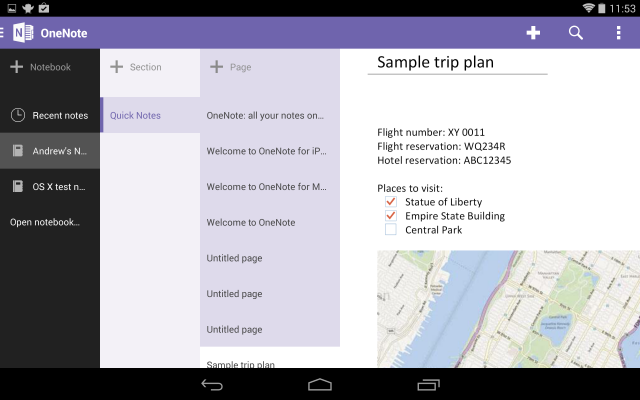 OneNote for Android gets new tablet UI and handwriting ...