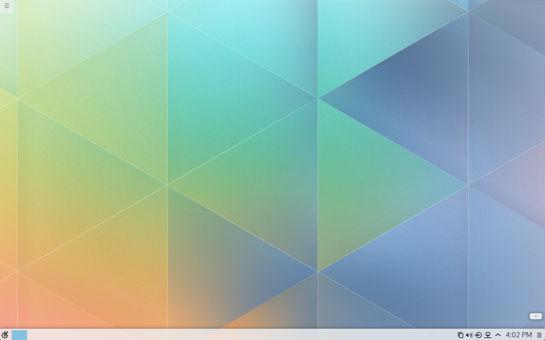 The KDE Plasma 5 desktop.