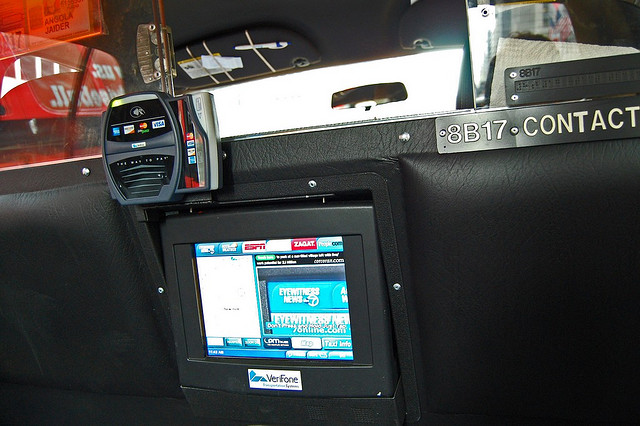 The contactless payment terminal in New York City cabs are brought to you by Verifone.