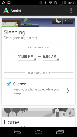 Motorola Assist, one of the Moto G's value-added apps.