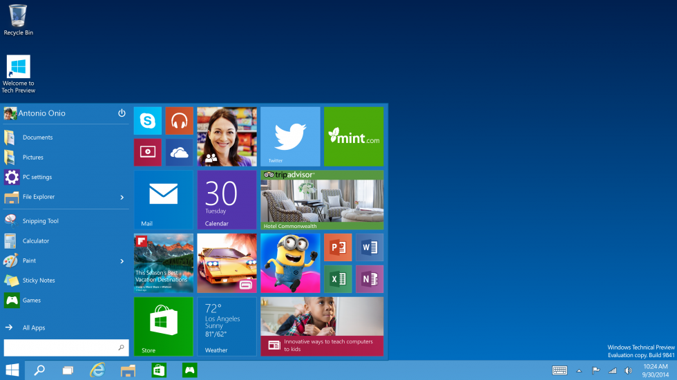new and improved start menu