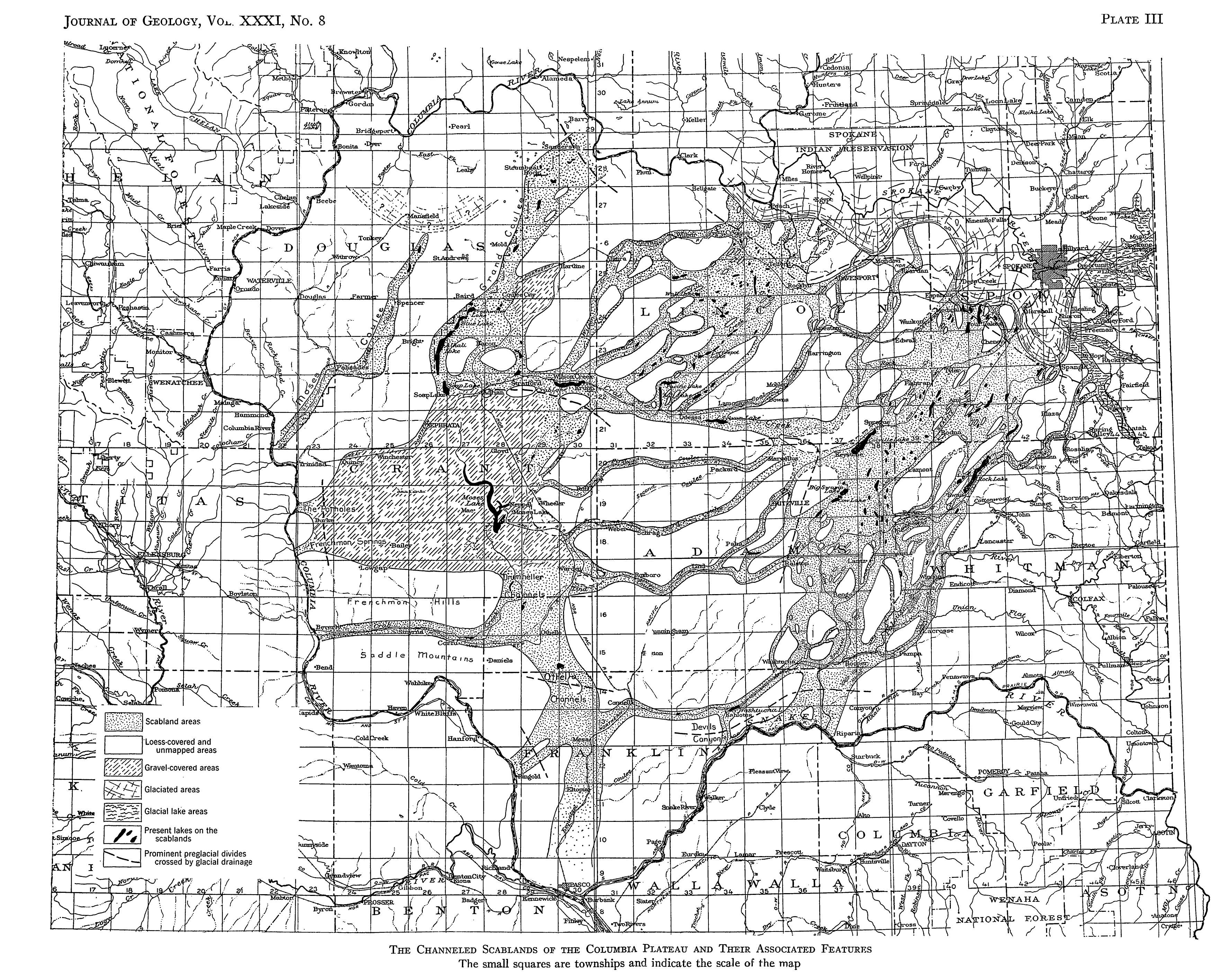 In just a couple summers, Bretz and his students mapped the bedrock channels of the Scablands.