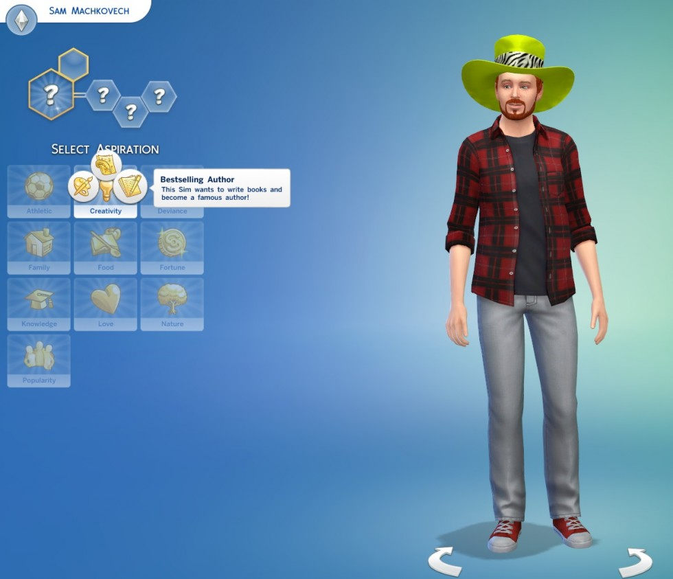 Our fearless <em>Sims 4</em> critic aspires to be... a journalist?! Pshaw.