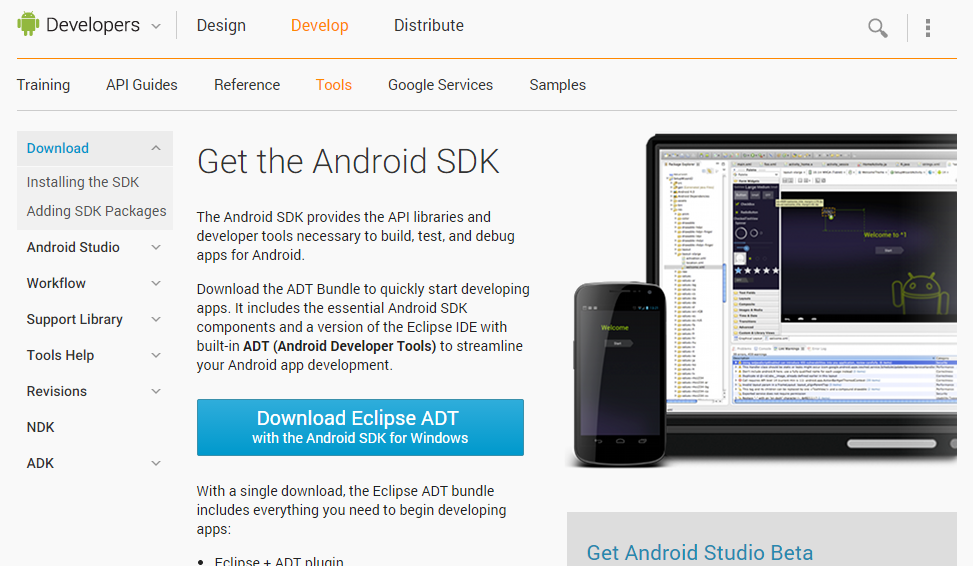 The windows-only SDK manager.