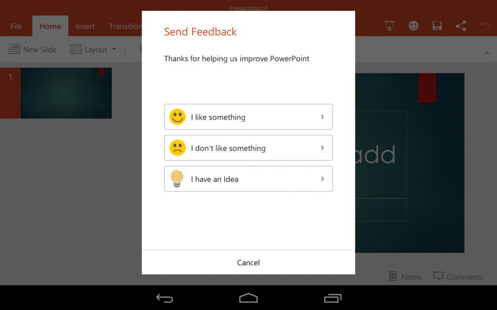 If you get into the preview, you can give Microsoft direct feedback.