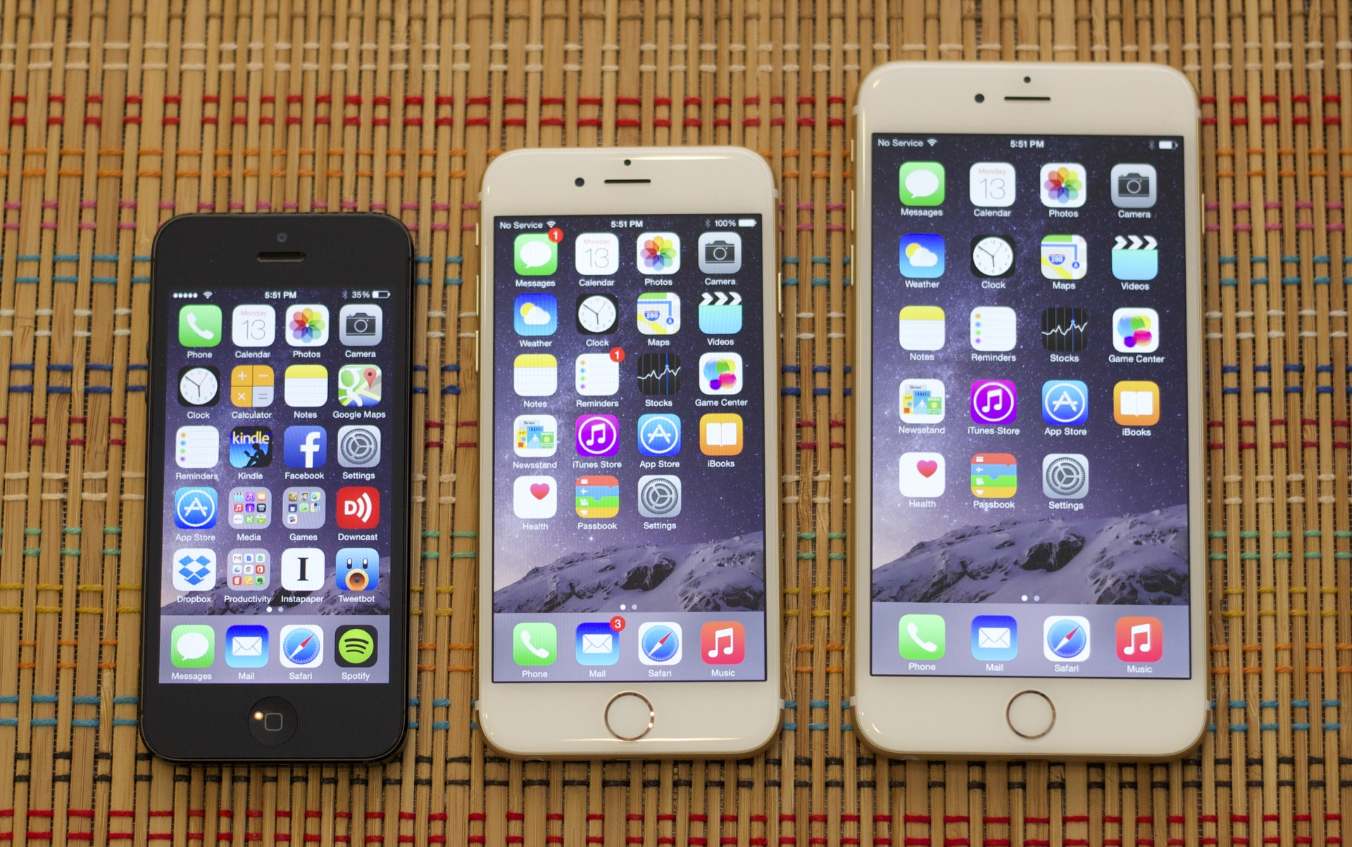 The iPhone grew two sizes this year.