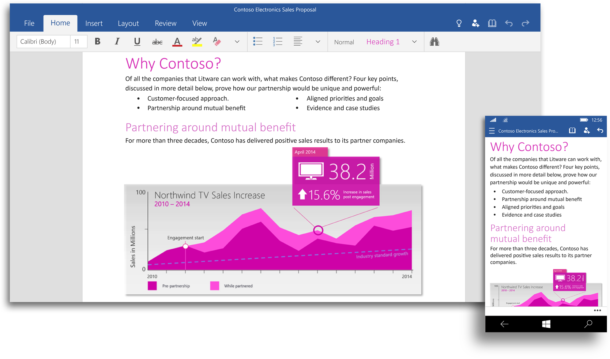 ... These touch-optimized apps are separate from the desktop Office suite