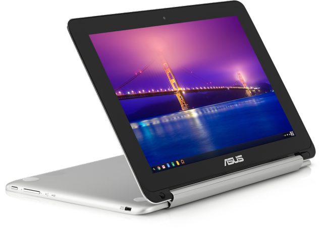 "Asus' Chromebook Flip launches ""later this spring"" for $249."
