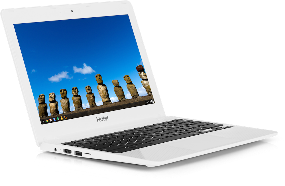 The Haier Chromebook 11 is mostly identical to the Hisense Chromebook, but Google says it will last a bit longer and is a little lighter.