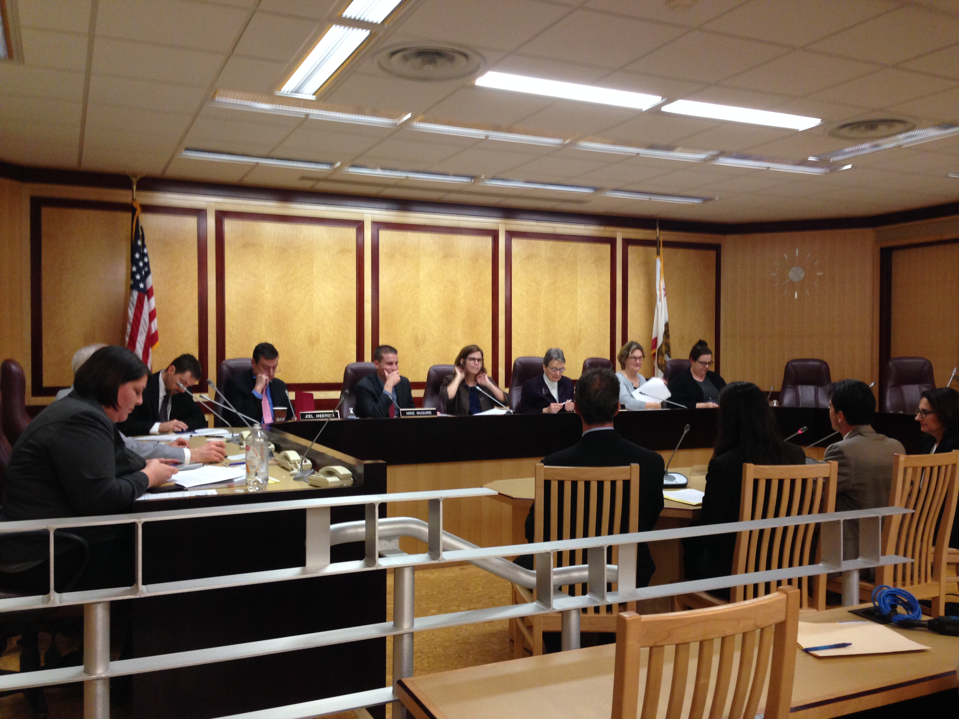 The Senate Standing Committee on Public Safety met in Sacramento on Tuesday.