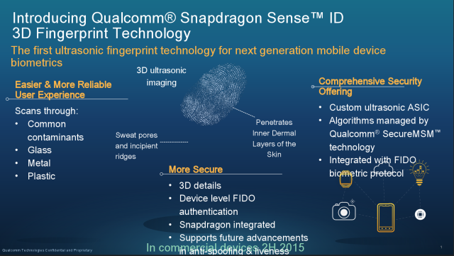 Qualcomm unveils its answer to Touch ID: Ultrasonic fingerprint scanning