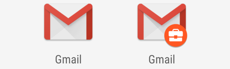 I'm seeing double! No wait, it's just personal Gmail and work Gmail.